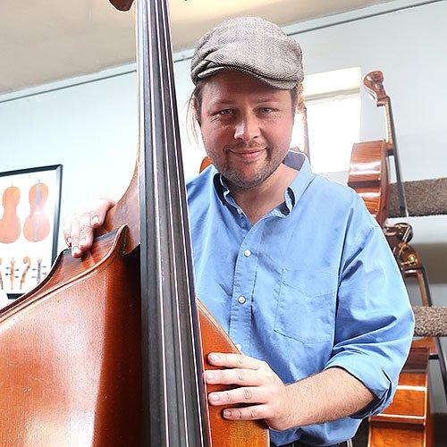 Mark Wallace with an Upright Bass at Top Notch