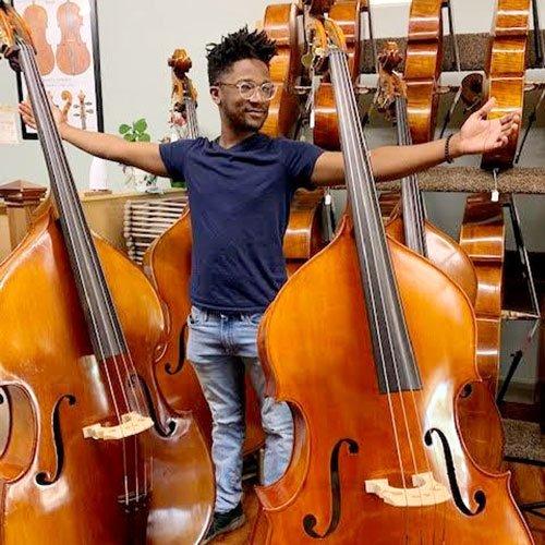 Tilton Yokley with upright basses